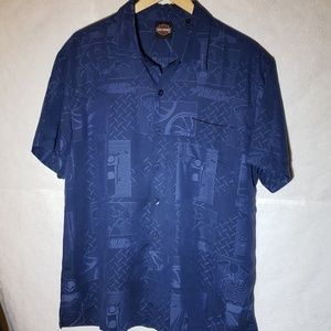 Harley Davidson Mens Dark Brilliant Blue Shirt Lg
